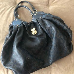 Authentic Louis Vuitton Mahina Black Leather Purse